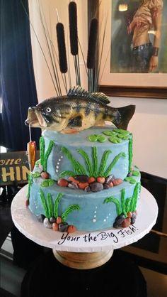 Fishing Bass birthday cake