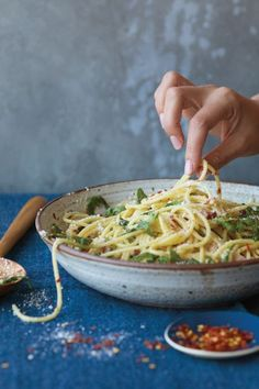 """Lemony Arugula Spaghetti Cacio E PepeServes 4Prep time: 10 minutesTotal time: 25 minutes""""Some say love conquers all, but I say cacio e pepe does,"""" Teigen writes. """"It's true, John and I fell for each other and got married in Lake Como, Italy, but it's also where I became a slave to this pasta dish, which is super peppery and cheesy and is basic....."""