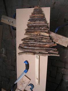 rustic tree from 365 days of craft (day 345...NOOOOOOO!!!!)