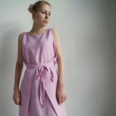 AGNES - šaty len - růžová