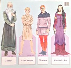 Camelot Paper Doll Book by Tom Tierney Shackman 1996 Uncut King Arthur | eBay