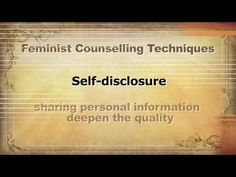 Feminist Counselling - YouTube