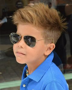 "Cool Haircuts for Kids for 2019 : Short Sides Longer Top The formula of ""short on the sides, long on top"" forms the basis of many boys' haircuts. This style uses that formula to create a textured, windswept look. Trendy Boys Haircuts, Cute Toddler Boy Haircuts, Boy Haircuts Short, Cool Haircuts, Summer Hairstyles, Haircuts For Men, Messy Hairstyles, Haircut Short, 2016 Haircut"