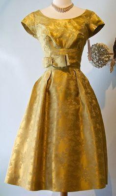 1960s brocade dress