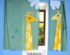 http://sandavy.com/charming-kitchen-curtains-creativity-design-ideas/drop-dead-gorgeous-2014-cute-curtain-for-children-room-girrafe-animals-motif-wooden-windows-frame-blue-wall-colors-in-kids-bedroom/
