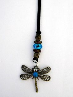 Dragonfly necklacelarge hole beads dragonfly by CarriedAwaybySue