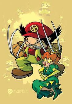 #Wolverine #Gaming #Mario
