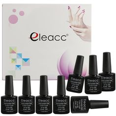 Eleacc Temperature Changing Colour Nail Lacquers Soak Off UV LED Gel Polish Gelpolish 7.3ml (Any 8 colors) >>> Click on the image for additional details.