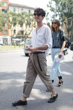 Love it!!! They Are Wearing: Milan Men's Fashion Week Spring 2014