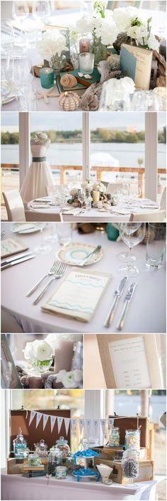 2012-10 rhein weiss Brunch Vintage Strand Hochzeit Lieschen und Ruth:
