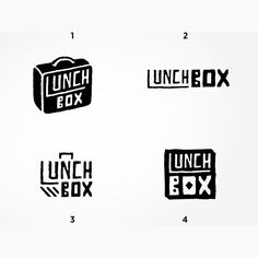 "2,478 Me gusta, 266 comentarios - Logo Inspirations (@logoinspirations) en Instagram: ""Which option? Lunch Box Options by Sel Thomson @sel_illustration - LEARN LOGO DESIGN …"""