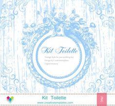 Kit Toilette Vintage Floral mod:828