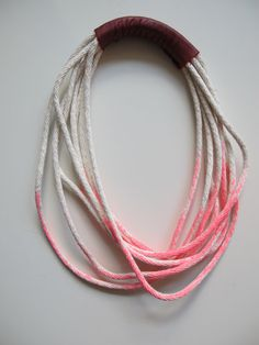 neon and dipped necklace