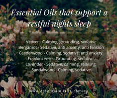 The best essential oil blends for sleep