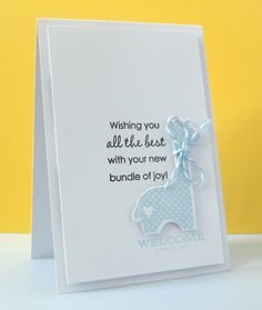Another simple & beautiful baby card - Stephanie #75