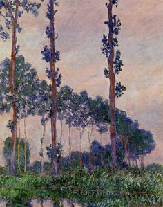 Three Trees in Grey Weather, Claude Monet, 1891