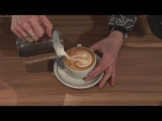 Coffee Latte - How To Do Latte Art - short video bite.  Of all the things to worry about with coffee, this is probably the least important...but the one that will bring in the biggest tips.