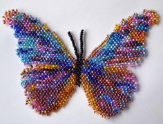 Beadwork by Katherina Kostinskaya Seed Bead Jewelry, Gemstone Jewelry, Beaded Jewelry, Seed Beads, Peyote Beading, Beadwork, Morpho Butterfly, Custom Jewelry Design, Beaded Animals