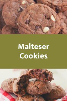 These Malteser Cookies are so moreish, it's a good thing I made them in a week I had 3 fast days so I was forced to slow . Lumberjack Cake, Fast Day, Cookie Recipes, Cookies, Chocolate, Baking, Eat, Desserts, Food