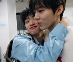 wooseok and dongpyo! Kpop Boy, Cube Entertainment, My Land, Always And Forever, Father And Son, Kpop Groups, Boyfriend Material, Couple Goals, My Boys