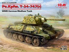 [captured Russian in German service] eModels UK Plastic Model Kits, Plastic Models, Ww2 Pictures, T 34, German Uniforms, Cool Tanks, Paint Shop, Diesel Engine, Peace Of Mind