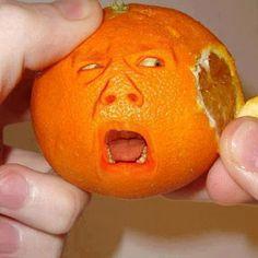 Orange in pain funny food pain orange food art food art images food art photos food art pictures food art pics