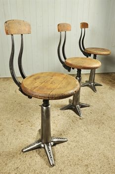 Original Cast Iron Singer Chairs - Vintage Industrial Furniture - Original House