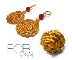 Rojo, La combinacion perfecta para Hoy!  Aretes Rojos Faby y Anillo Soul, ambos de la Línea Gypsy.  ventafab@gmail.com / 6252-6462