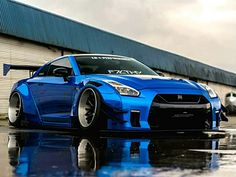 Liberty Walked Nissan GT-R Z_litwhips - Autos Online Gtr Auto, Gtr Car, Nissan Gtr Nismo, Skyline Gtr R35, Nissan Skyline, Nissan Sports Cars, Sport Cars, Tuning Motor, Muscle Cars