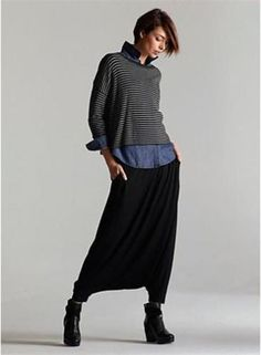 NWT-258-EILEEN-FISHER-Cozy-Viscose-Striped-Box-Top-2X-CHARCOAL-ASH-Gray