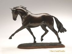 Horse sculpture of horse performing the extended trot - #equine #sculpture