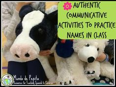 Authentic communicative activities to practice names in elementary Spanish class. After the beginning of the year, you still need ways to practice introductions & 'my name is __', here are some ideas! Mundo de Pepita, Resources for Teaching Spanish to Children