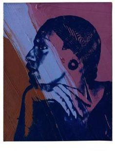 """Andy Warhol """"Ladies and gentlemen""""  acrylique et encre de sérigraphie sur toile,  37.5 x 28 cm, 1975"""