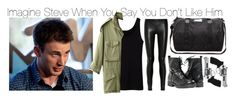 """""""Imagine Steve When You Say You Don't Like Him"""" by fandomimagineshere ❤ liked on Polyvore featuring DAY Birger et Mikkelsen, Uniqlo, The Row, NLST, Paolo Shoes and Revolver"""