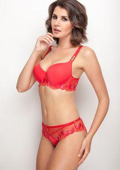 Samanta lingerie - New collection Goshenit crimson bra: A470 pants: B300 www.samanta.eu