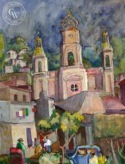 Dwight Strong - Puerto Vallarta, Zocalo, Mexico, California artist. Original watercolor art for sale, giclee art print for sale - californiawatercolor.com