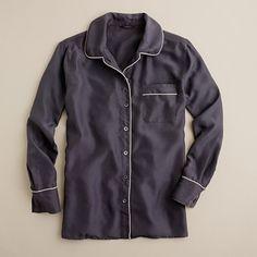 Silk vintage-inspired sleep shirt from J.Crew. Love this.