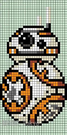 Hi, kyan! We found some Perler Beads and Bead Patterns Pins and boards for you! - Hi, kyan! We found some Perler Beads and Bead Patterns Pins and boards for you! Pixel Art Star Wars, Star Wars Bb8, Crochet Pixel, Star Wars Crochet, Bead Crochet, Crochet Crafts, Cross Stitching, Cross Stitch Embroidery, Cross Stitch Patterns