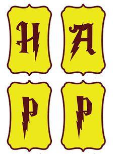 Printable HP Birthday Banner Harry Potter Bday Printables
