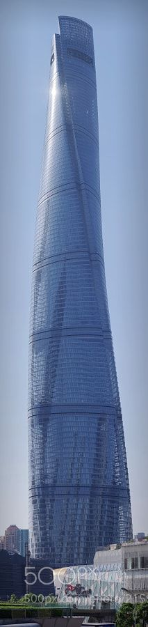 Shanghai Tower - Shanghai tower located in lujiazui is a landmark super-tall skyscrapers construction main body for 118 layer total is 632 meters high structure height is 580 meters known as China's tallest building the world's tallest building.