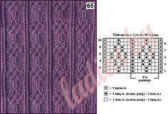 uzor-65a (617x421, 235Kb) Knit Purl Stitches, Dishcloth Knitting Patterns, Knit Dishcloth, Knitting Charts, Loom Knitting, Knitting Socks, Hand Knitting, Hand Knitted Sweaters, Knitted Blankets