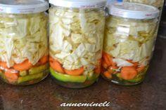 ANNEMİNELİ: TURŞUNUZ YOKSA HEMEN YAPIN Mexican Pickled Vegetables Recipe, Turkish Recipes, Ethnic Recipes, Marinated Olives, Healthy Salad Recipes, Winter Food, Vegetable Recipes, I Foods, Pickles