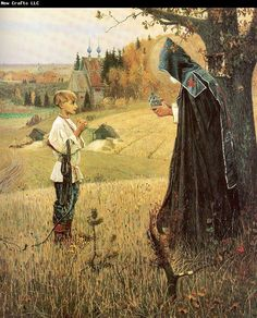 nesterov paintings | Nesterov, Mikhail The Vision to the Boy Bartholomew