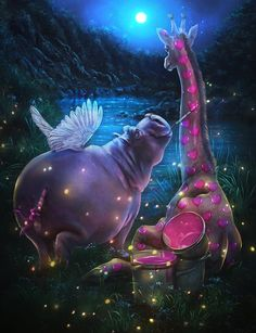 Explore best love art on DeviantArt Mosaic Pictures, Cool Pictures, Cute Hippo, Animation, Cross Paintings, Psychedelic Art, Pet Names, Amazing Art, Illusions