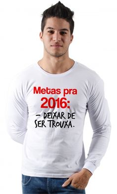 Dica #palcofashion #Camiseta - Metas pra 2015 #moda #fashion