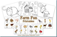 Farm Fun Printables (free)