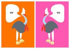 cassowaries. Le Riquiqui. design / illustration / art.