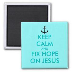 Custom Keep calm magnet | Turquoise Customizable