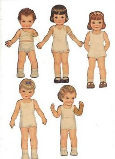 I loved paper dolls! Spent hours and hours cutting out their clothes!