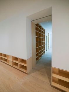 unique way to create storage.  Not sure what this room would be used for